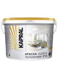 Краска потолочная Kapral P10, 14 кг, белая