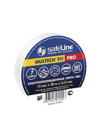 Изолента Safeline 15мм 20м белый