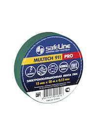 Изолента SafeLine Pro, зеленая, 15 мм х 20 м