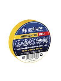 Изолента SafeLine Pro, желтая, 15 мм х 20 м