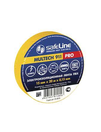 Изолента Safeline 15мм 20м желтый