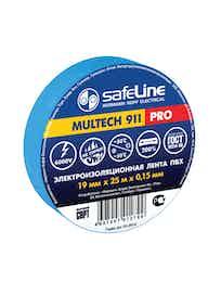 Изолента SafeLine Pro, синяя, 19 мм х 25 м