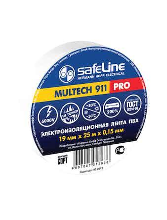 Изолента Safeline 19мм 25метров белая