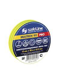 Изолента SafeLine Pro, желто-зеленая, 15 мм х 20 м