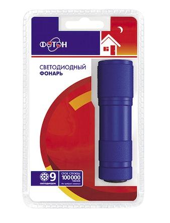 Фонарь ФОТОНMS-0809 (3хR03) Blue