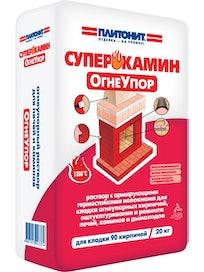 Огнеупорная смесь PLITONIT Суперкамин-Огнеупор, 20 кг