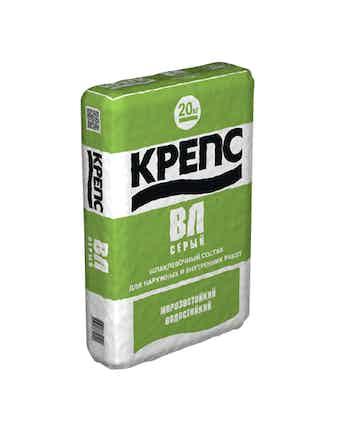 Шпаклевка Крепс ВЛ серый 20 кг