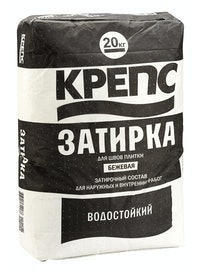 Затирка Крепс, бежевая, 20 кг