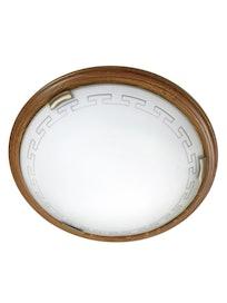 Светильник настенно-потолочный Сонекс 260, орех/бронзовый, 2 х 100 Вт х Е27