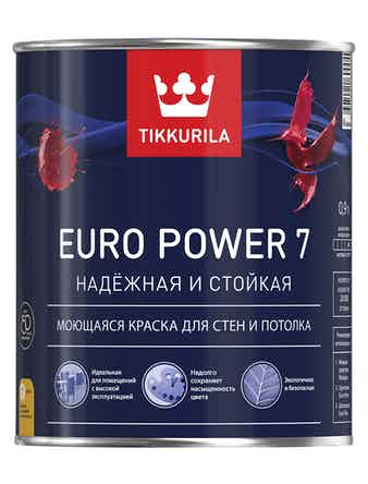 Краска EURO 7 осн.A белая 0,9л Tikkurila