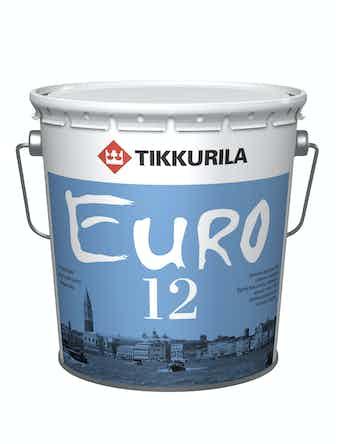Краска Tikkurila EURO 12, полуматовая, белая, 2,7 л