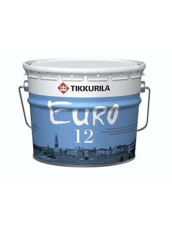 Краска Tikkurila EURO 12, полуматовая, белая, 9 л