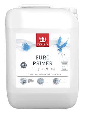 Грунт акрилатный Tikkurila Euro Primer, бесцветный, 10 л