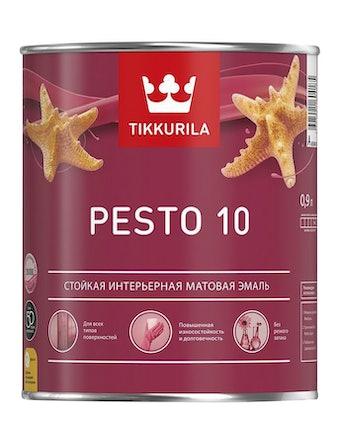 Эмаль Tikkurila Euro Pesto 10 A, матовая, 0,9 л