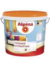 Краска интерьерная Аlpinа, матовая, база 1, 10 л
