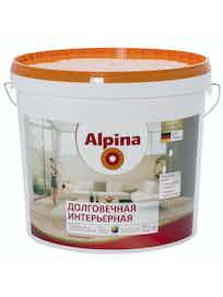Краска долговечная интерьерная Аlpina, шелковисто-матовая, база 3, 9,4 л