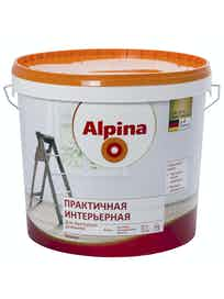 Краска практичная интерьерная Аlpina, матовая, 10 л