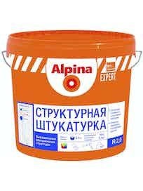 Штукатурка структурная Аlpina Expert R 2, эффект короеда, база 1, 16 кг