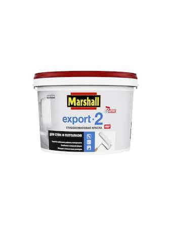 Marshall Export-2 Глубокоматовая колеруемая краска для стен и потолков (База белая)