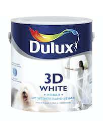 Краска для стен и потолков Dulux 3D White матовая BW белая 2,5л