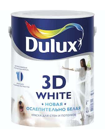 Краска для стен и потолков Dulux 3D White матовая BW белая 5л