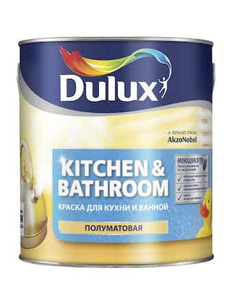 Краска для стен и потолков Dulux UltraResist КУХНЯ и ВАННАЯ BM 2,4 л