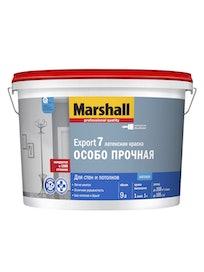 Водно-дисперсионная краска Marshall Export-7, база BW, белая, матовая, 9 л