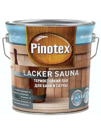 Лак Pinotex Sauna 20 полуматовый, 2,7 л