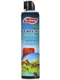 Аэрозоль Dr.Klaus от мух, ос, 600 мл