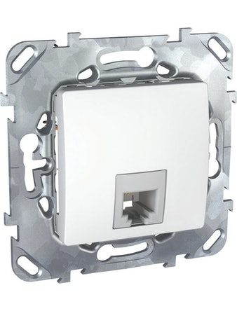 Розетка телефонная Unica 1 х RG11, белая