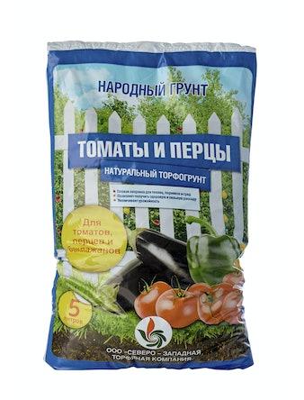 Грунт Народный, томат и перец, 5 л