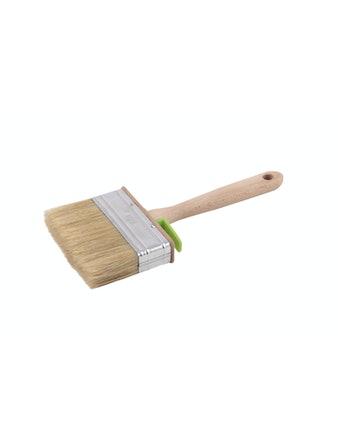 Кисть плоская 25х120 мм, светлая натуральная щетина, деревянная ручка