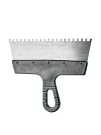 Шпатель зубчатый с антикоррозийным покрытием, 250 х 6 х 6 мм