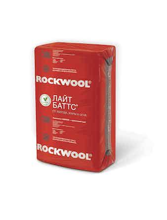 Теплоизоляция Лайт баттс 100 х 60 х 5 см, 6 м2 (0,3 м3)