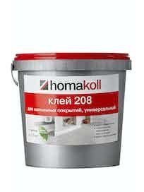 Клей для гибких напольный покрытий Homakoll 208, 1,3 кг