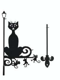 Указатель ветра малый Кошка 322, 25 х 45 см
