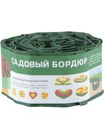 Бордюр для газонов, зеленый, 10 см х 9 м