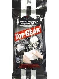 Салфетки для очистки рук Top Gear, 30 шт.
