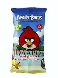 Влажные универсальные салфетки Angry Birds, 30 шт.