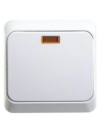 Выключатель открытой установки Этюд, 1-клавишный, белый