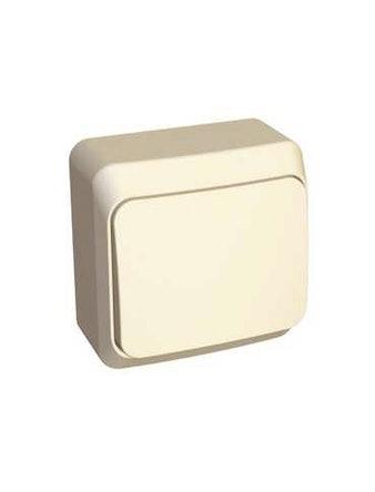 Выключатель Этюд, 1-клавишный, открытой установки, бежевый