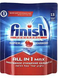 Таблетки для посудомоечной машины Finish All in 1 Max, 13 шт.