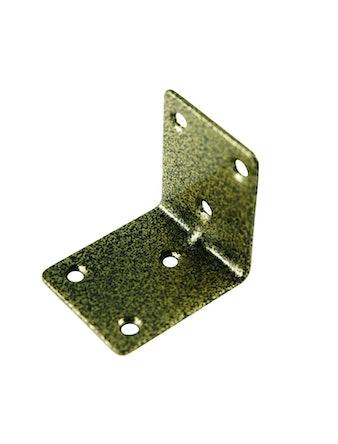Уголок крепежный 50 х 50 х 40 2 шт бронза антик