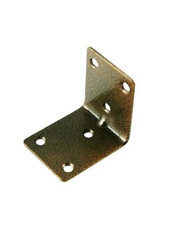 Уголок крепежный 50 х 50 х 40 мм 2 шт медь антик