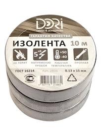 Изолента Dori, черная, 0,13 х 15 мм, 10 м