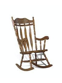 Кресло-качалка резная 4768, массив дуба