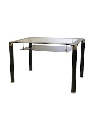 Стол стеклянный 1614 черный/хром. металл