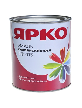 Эмаль ЯРКО ПФ-115 желтая 1,9 кг