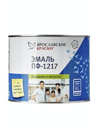Эмаль ПФ-1217 Ярославские Краски белая, 2 кг