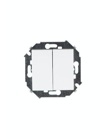 Выключатель 2-клавишный Simon15, белый